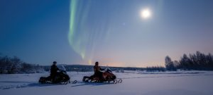 Luxury Private Jet Snowmobile Adventure to the Arctic Circle